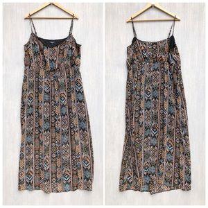 Asos New Look Inspire geo print maxi dress 18